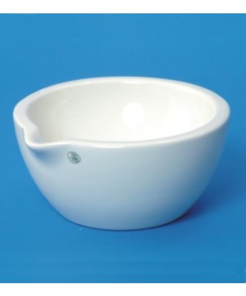Moździerze porcelanowe, gładkie z wylewem