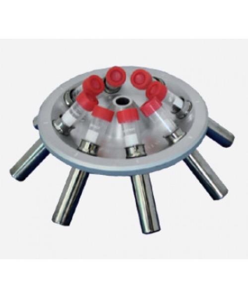 Wirnik kątowy 45° 8x 15/10 ml z pojemnikami, max. 4000 obr/min