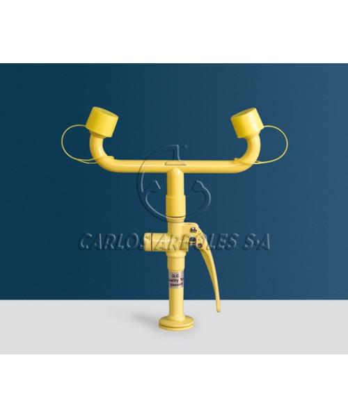 Ręczny prysznic z wężem montowany w stole laboratoryjnym