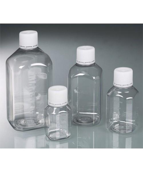 Butelki sterylne kwadratowe z PET