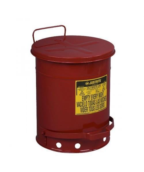 Pojemniki na odpady olejowe i łatwopalne, otwarcie nożne