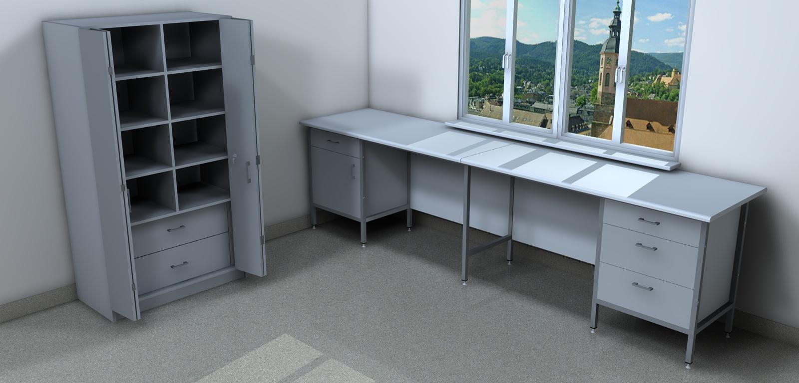 Stół na aparaturę i szafa