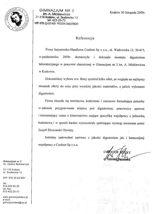 Gimnazjum nr 2 Kraków